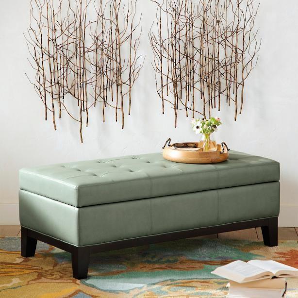 Tremendous Lauren Storage Ottoman Farm House Leather Storage Bench Ncnpc Chair Design For Home Ncnpcorg