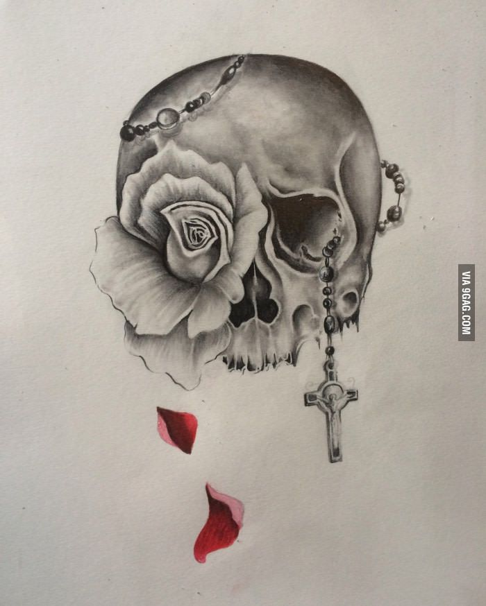 skull and rose tattoo design rose tattoos tattoo designs and tattoo. Black Bedroom Furniture Sets. Home Design Ideas