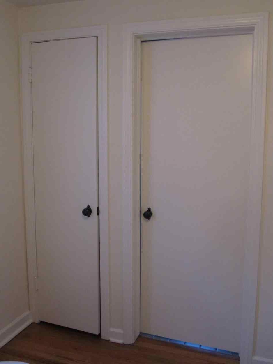 Exceptionnel Before Black Door Knobs On White Doors And After Interior Door Knobs  Brushed Nickel U Locks
