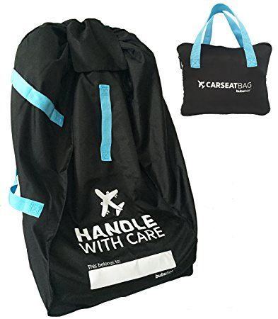 Car Seat Travel Bag System For Airline Gate Check