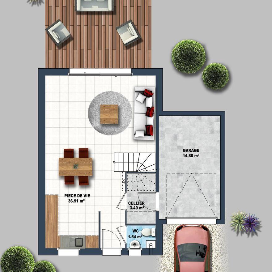 Prix pour une maison étage au 1er Juillet 2017, 3 chambres du0027une - prix de construction d une maison