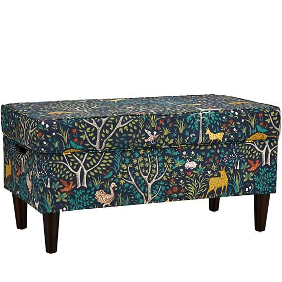 Upholstered Storage Bench wLegs Folkland Admiral The Land of