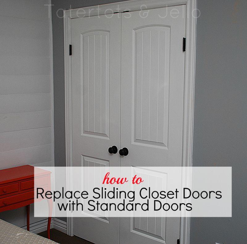 Replace Sliding Bi Fold Closet Doors With Standard
