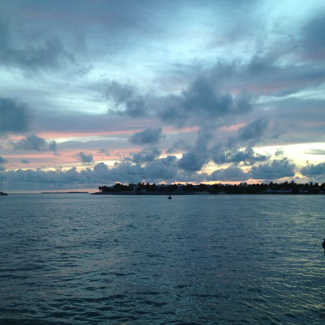Sunset in Mallory square, Key West, Florida