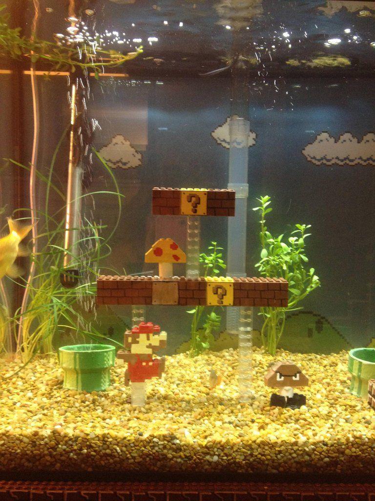Super Mario Aquarium I am doing this if I ever get a tank New