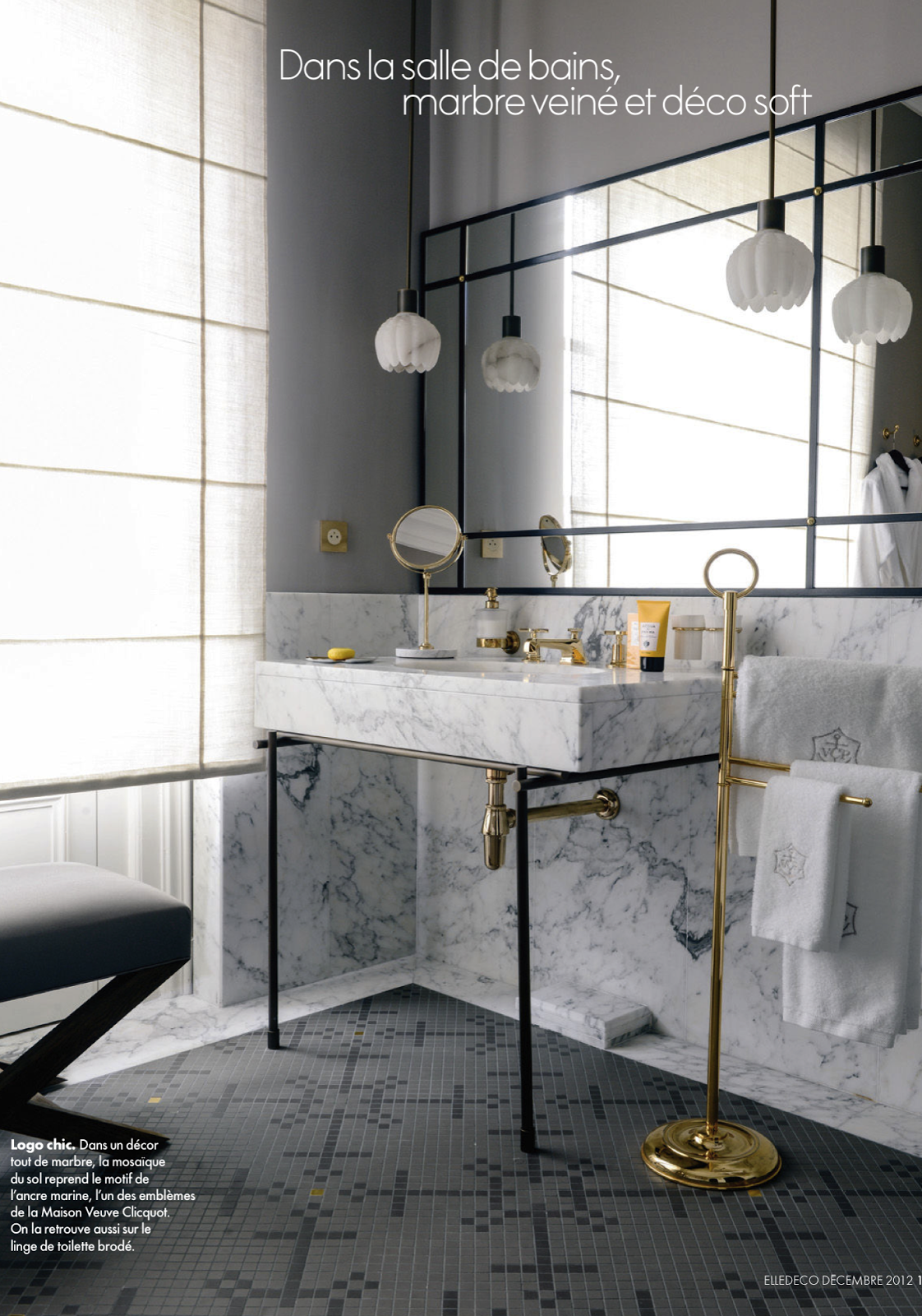 EllDec313____Jurnalik.Ru. Elle Decor MagazineMarble BathroomsBathroom ...