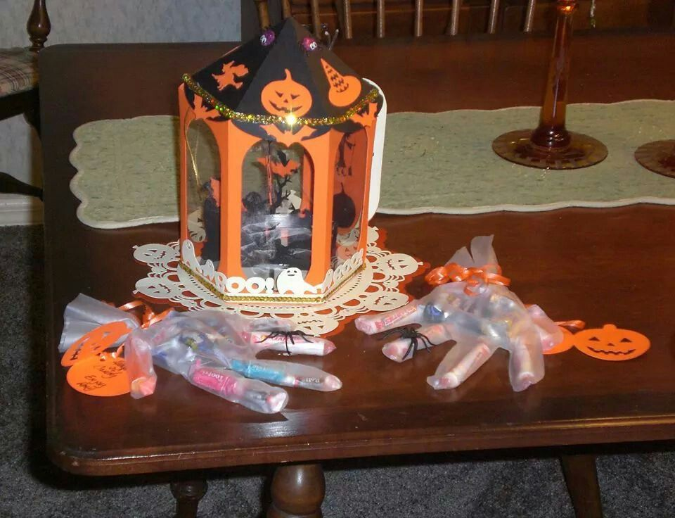 Jay's lantern and Amy's hands