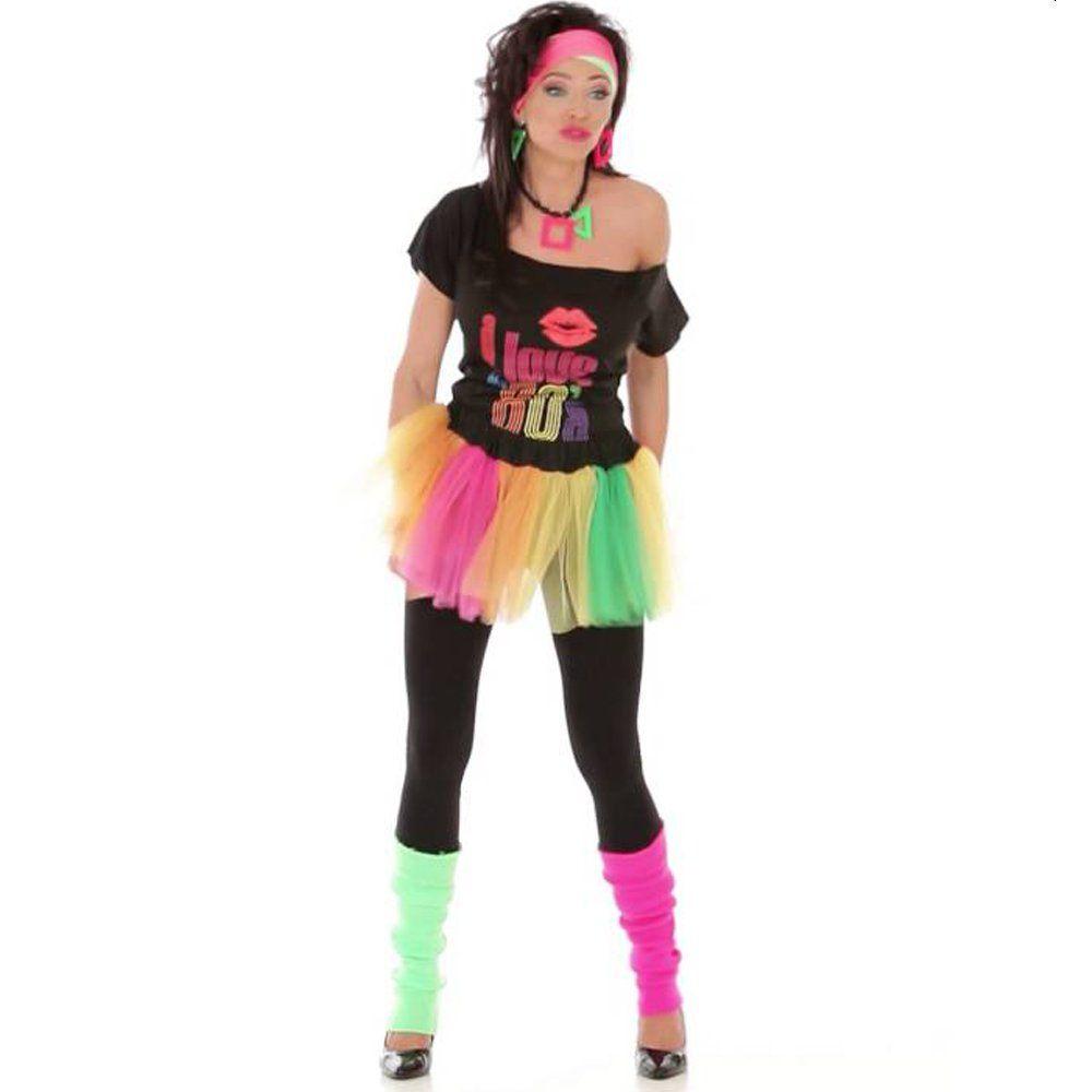 80's Multi-coloured Fancy Dress Tutu Skirt