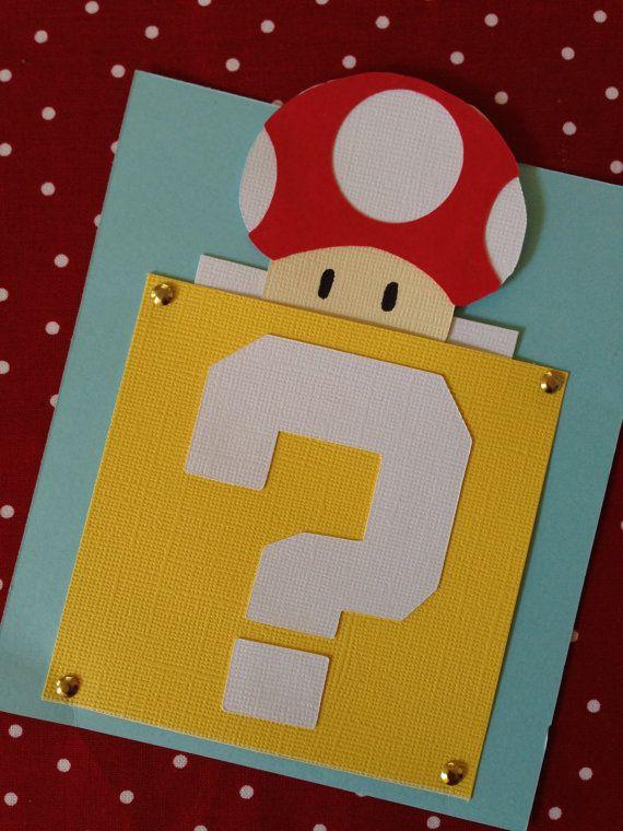 10 Invitaciones De Super Mario Bros Por Shannaraeh En Etsy