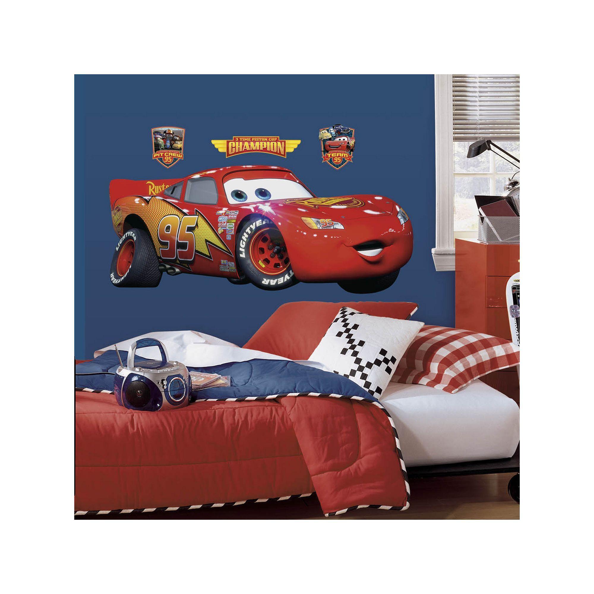 Disney Pixar Cars Lightning Mcqueen Peel Stick Wall Decals Disney Wall Decals Disney Cars Bedroom Kids Bedroom Designs [ 2000 x 2000 Pixel ]