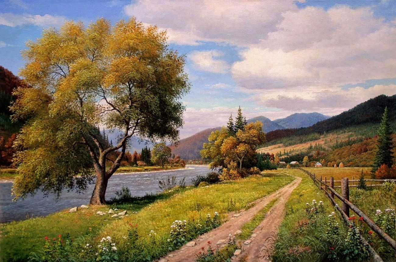 A Comprehensive Overview On Home Decoration In 2020 Oil Painting Landscape Large Landscape Painting Mountain Landscape Painting