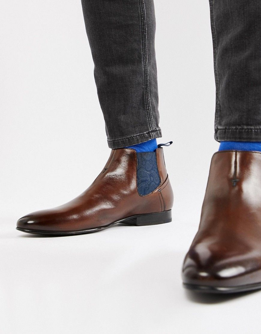 3ef296b3b27 TED BAKER LOWPEZ CHELSEA BOOTS IN BROWN LEATHER - BROWN. #tedbaker ...