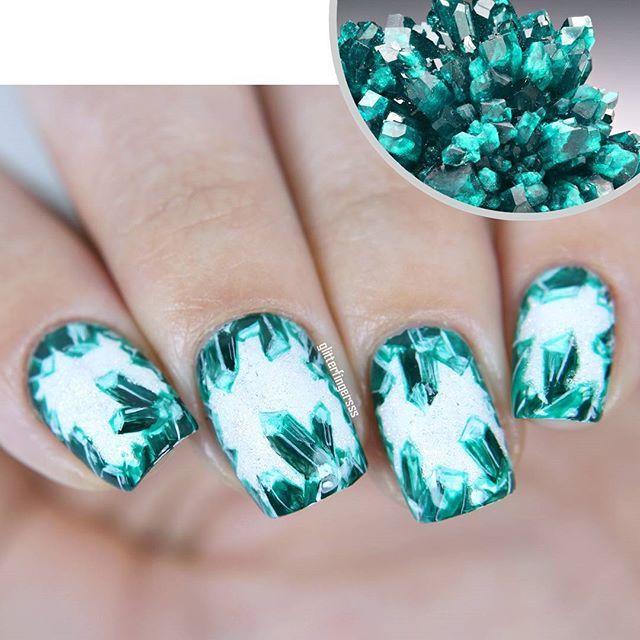 Instagram media glitterfingersss - dioptase #nail #nails #nailart Pinterest@Sagine_1992Sagine ☀️