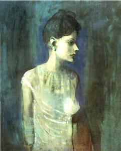 femme dans a chemise - (Pablo Picasso)