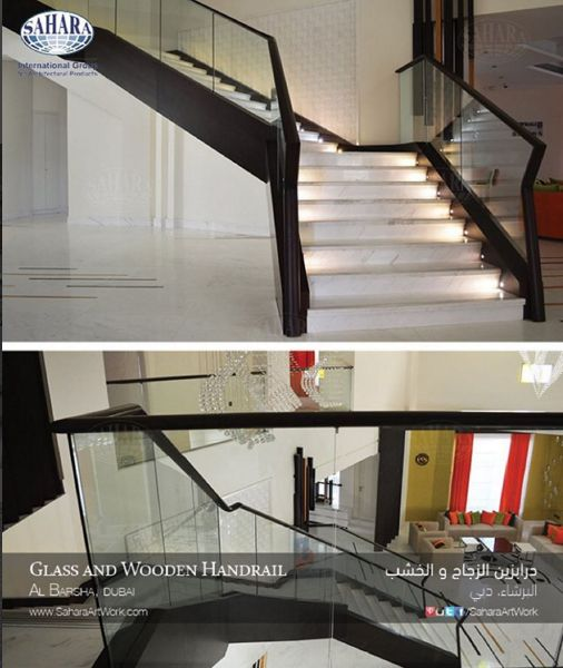 One Of Our Very Elegant And Safe Glass Handrail For A Modern Interior Space افضل الحلول لتصميم منازلكم و تجهيزها باجمل التصاميم Mahogany Wood Home Home Decor
