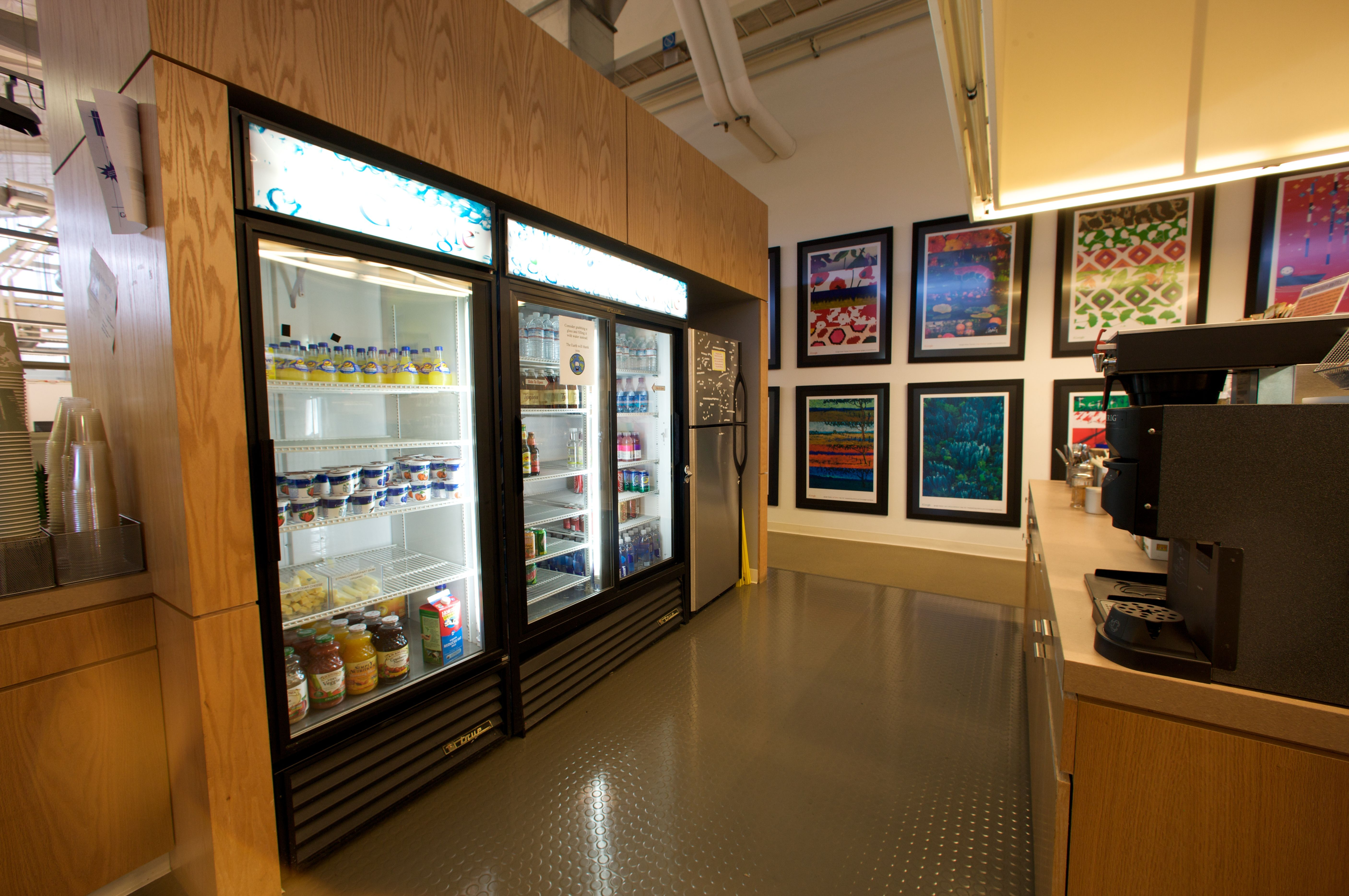 Micro Kitchen In Google S Mountain View Headquarters Which