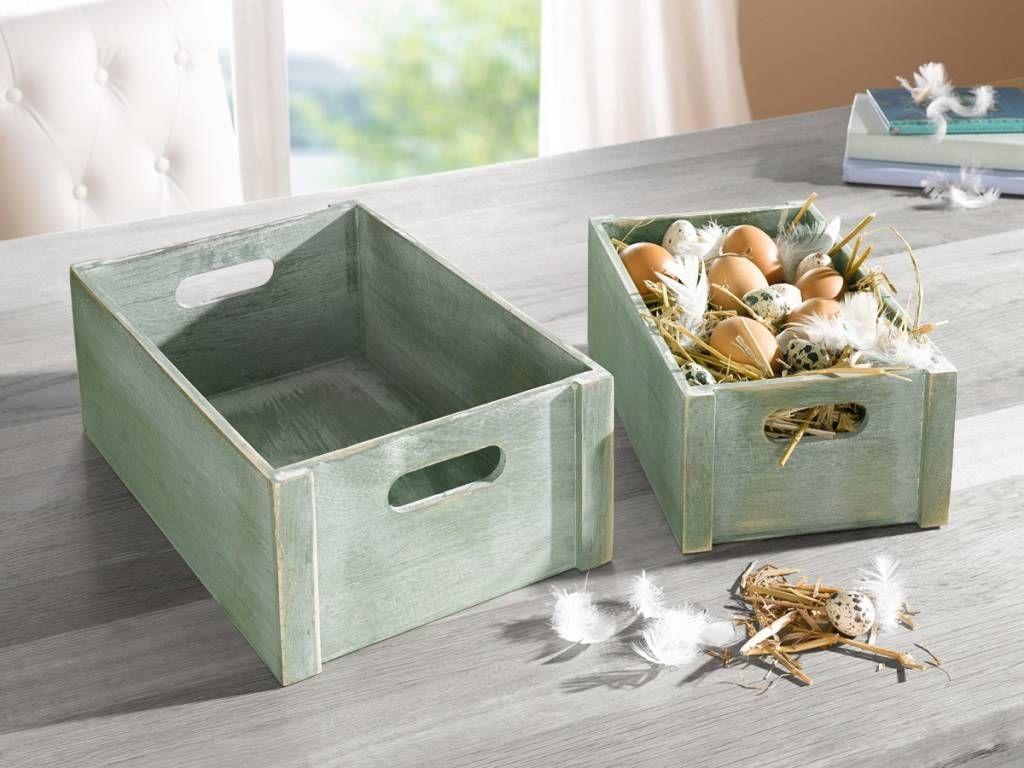 """Holzkisten-Set """"Green Box"""""""
