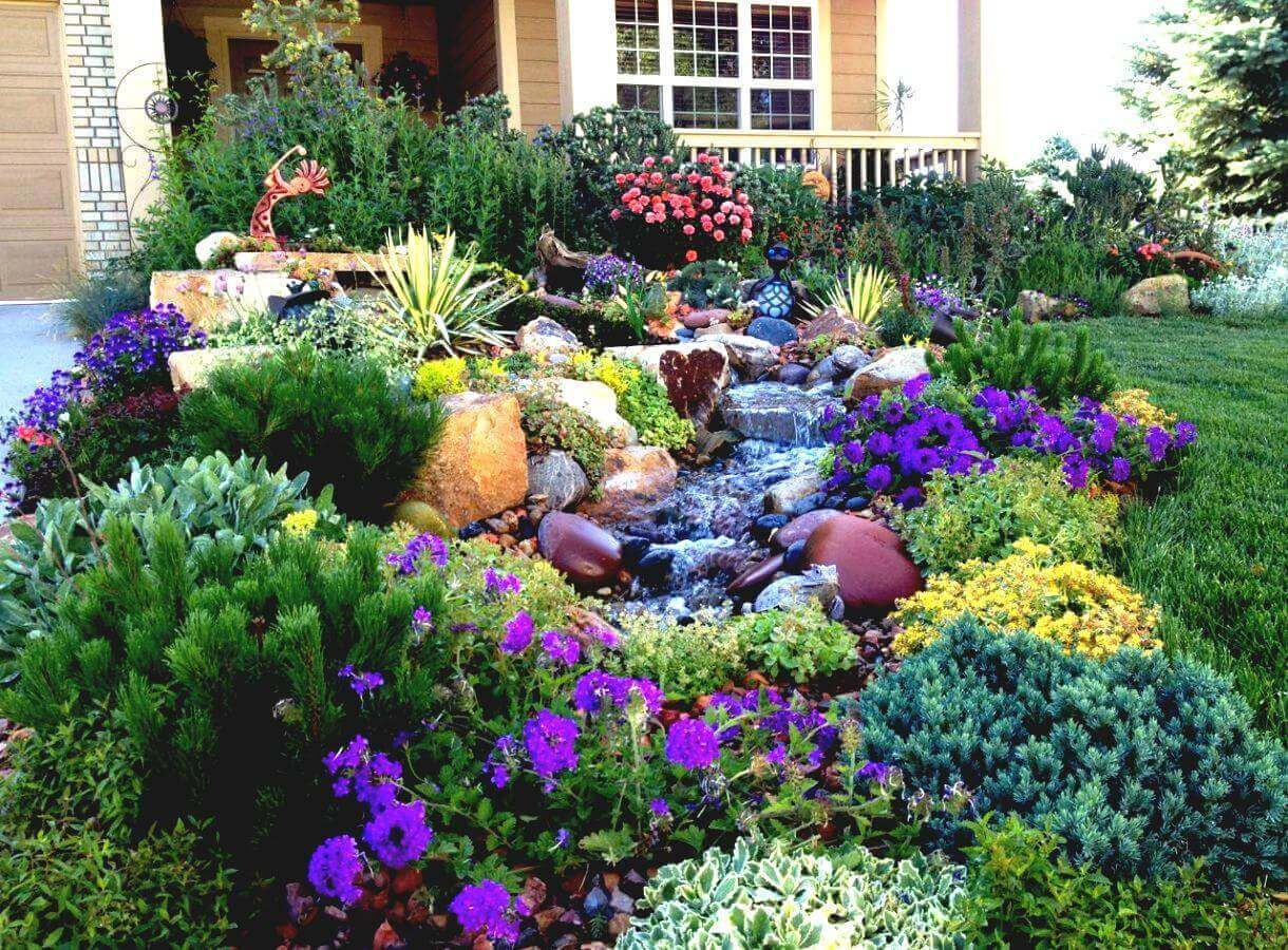Front Yard Landscaping Ideas Water Wise Western Water Feature Harpmagazine Small Front Yard Landscaping Front Yard Landscaping Design Xeriscape Landscaping