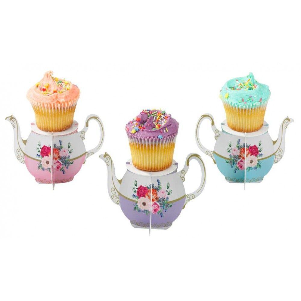 Alice teapot cupcake stands tea pots vintage cupcake