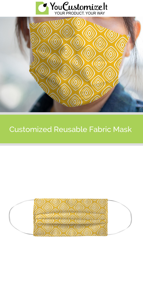 Tribal Diamond Face Mask Cover Personalized Diamond Face Diamond Tribal Face Mask