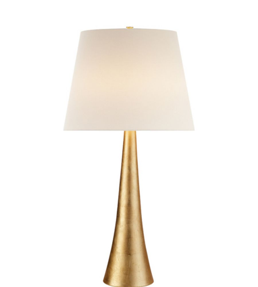 Visual Comfort Arn 3002g L Aerin Modern Dover Table Lamp In Gild With Linen Shade Foundrylighting Com Table Lamp Lamp Inspiration Lamp