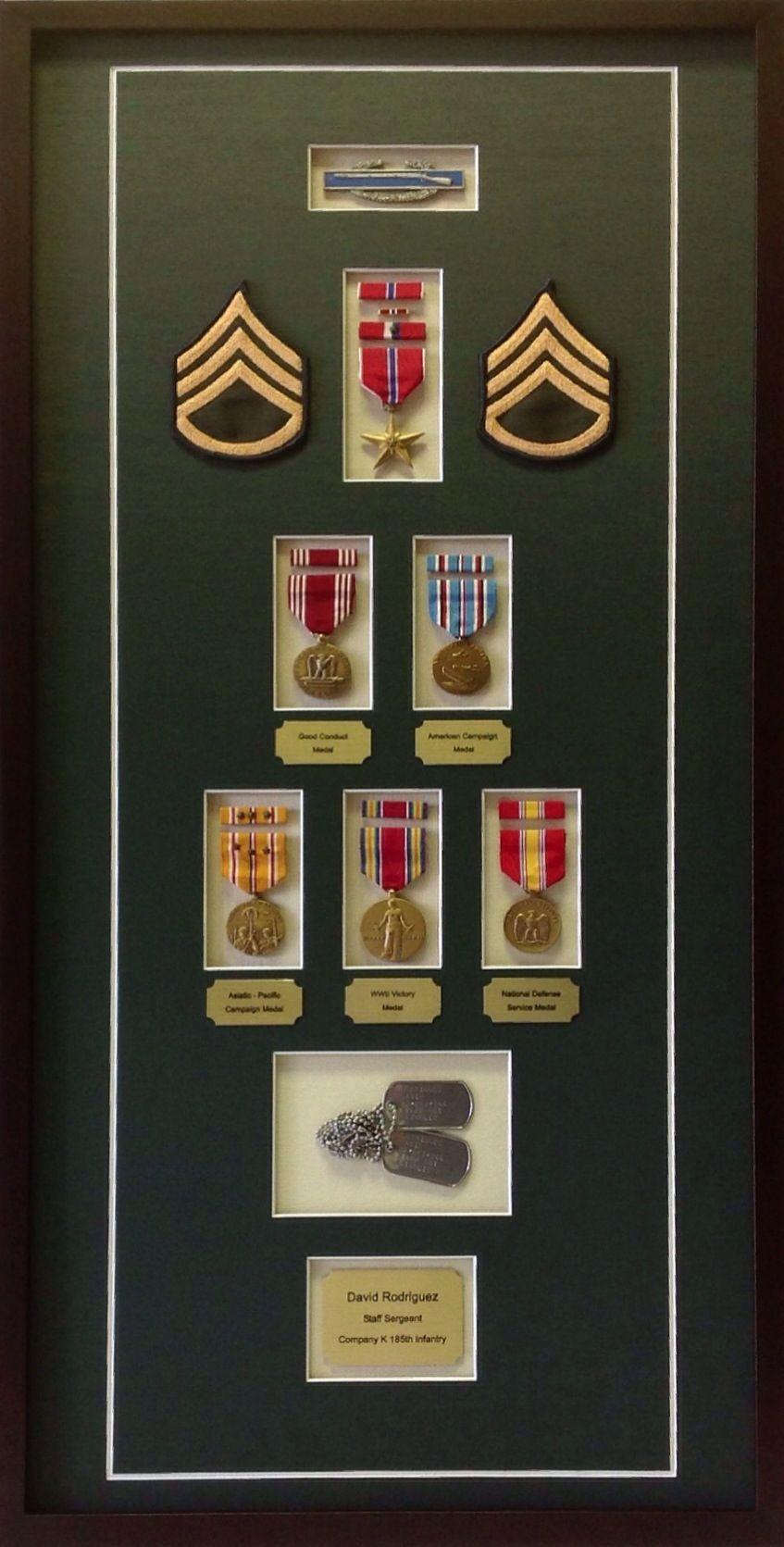 Custom Military Shadowbox Military Shadow Box Shadow Box Medal Display