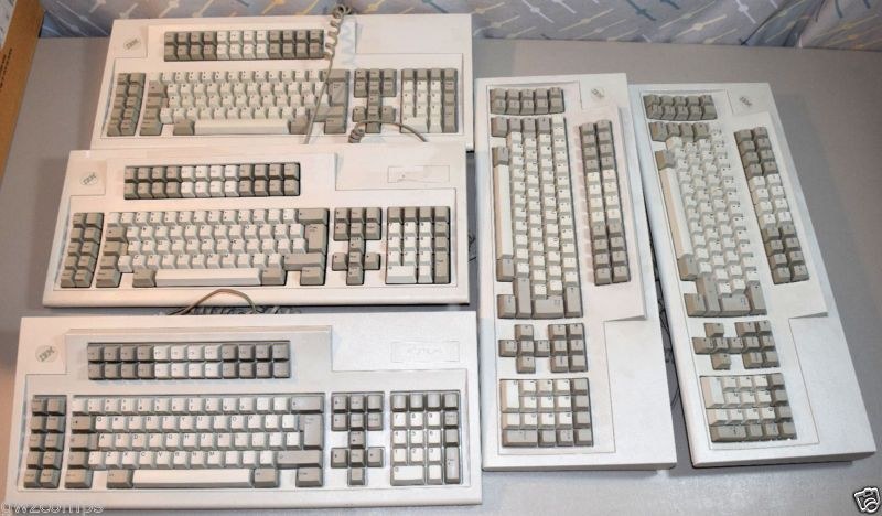 Lot 5 Vintage Ibm Clicky Terminal Keyboard Model M 1395660 Untested Parts Repair Go Shop Electronics Keyboard Ibm Computer