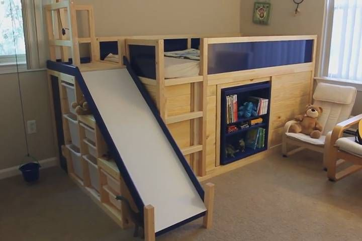 Do It Yourself Home Design: WATCH: California Dad Builds Bed With Slide, Secret Room