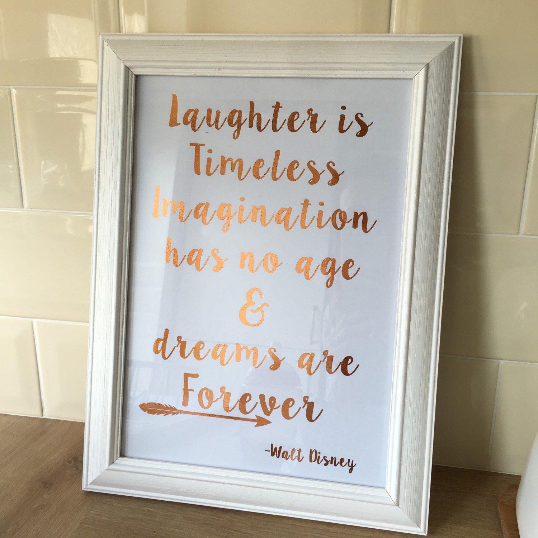 Walt disney foil print copper home decor nursery print by