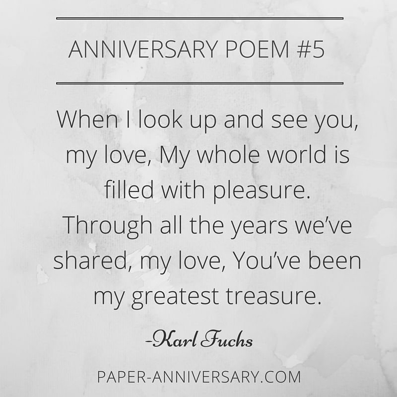 Ridiculously romantic anniversary poems for her