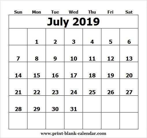Cute 2019 July Calendar Design RECKY Pinterest Calendar