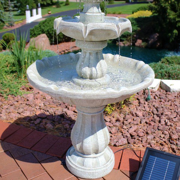 Malpelo Resin Solar Fountain