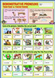 demonstratives exercises with pictures pdf