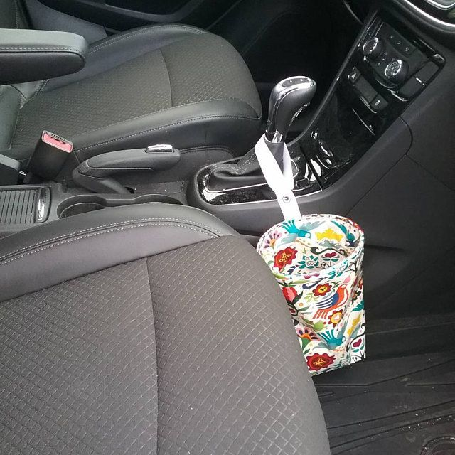 Car trash can small collapsible wastebasket thread catcher   Etsy