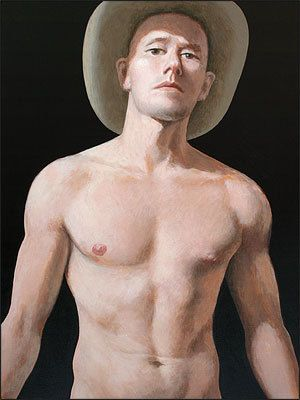 Nude with cowboy hat poster