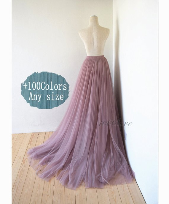 8f38ce7a25 Long maxi tulle skirt with a big train,bridesmaid dress,photo shoot tulle  skirt