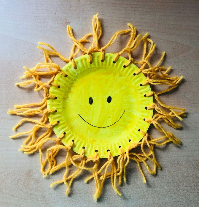 Sommer basteln: Kleine Sonnen