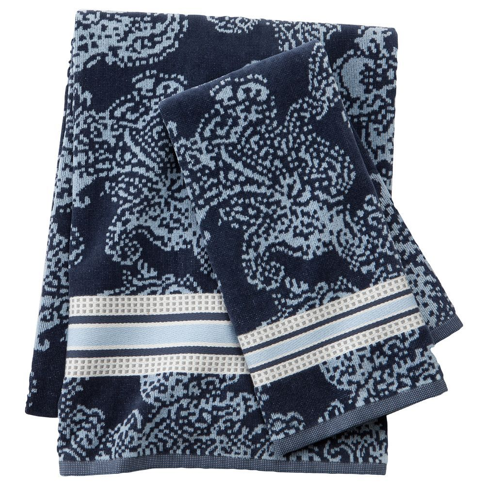 SONOMA life + style Blue Ridge Paisley Bath Towels | bath towel ...