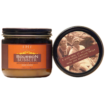 We are loving the Farmhouse Fresh Bourbon Bubbler Body Scrub - incredible smell with the fun scritchies of sugar!