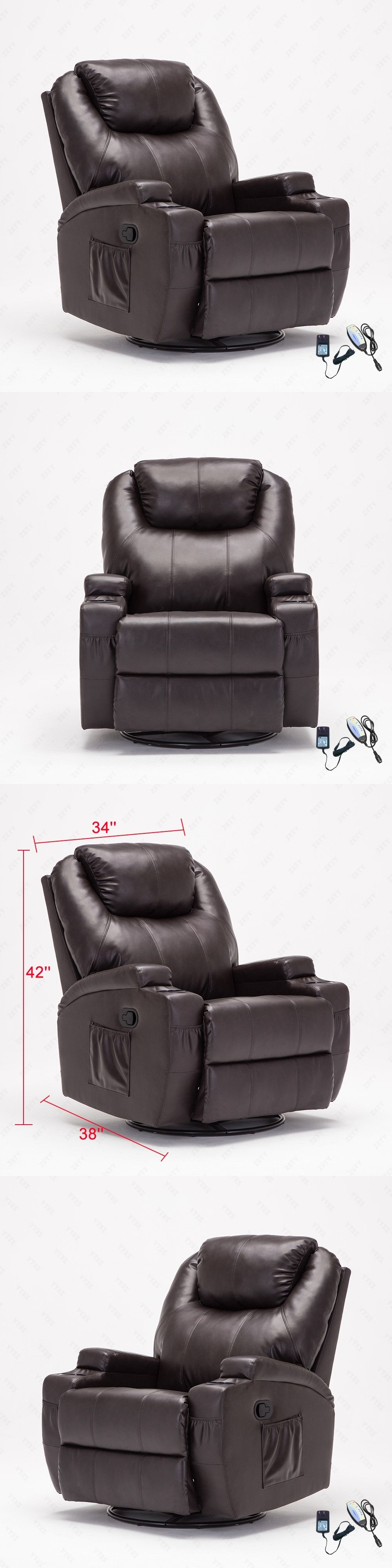 Electric Massage Chairs Brown Massage Recliner Sofa Lounge Chair