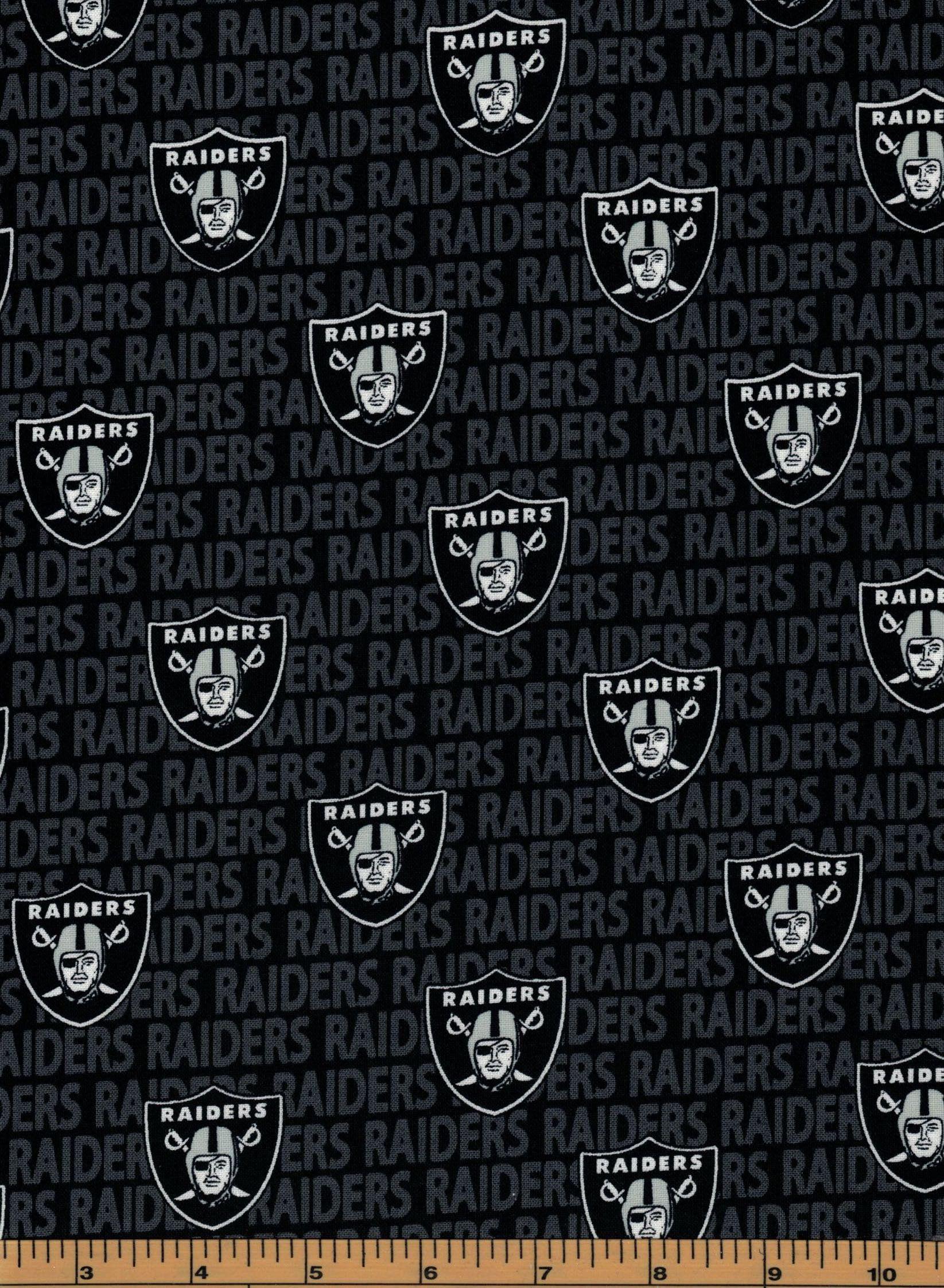 1//4 yarda Mini Nfl Oakland Raiders de Las Vegas 100/% Tela De Algodón