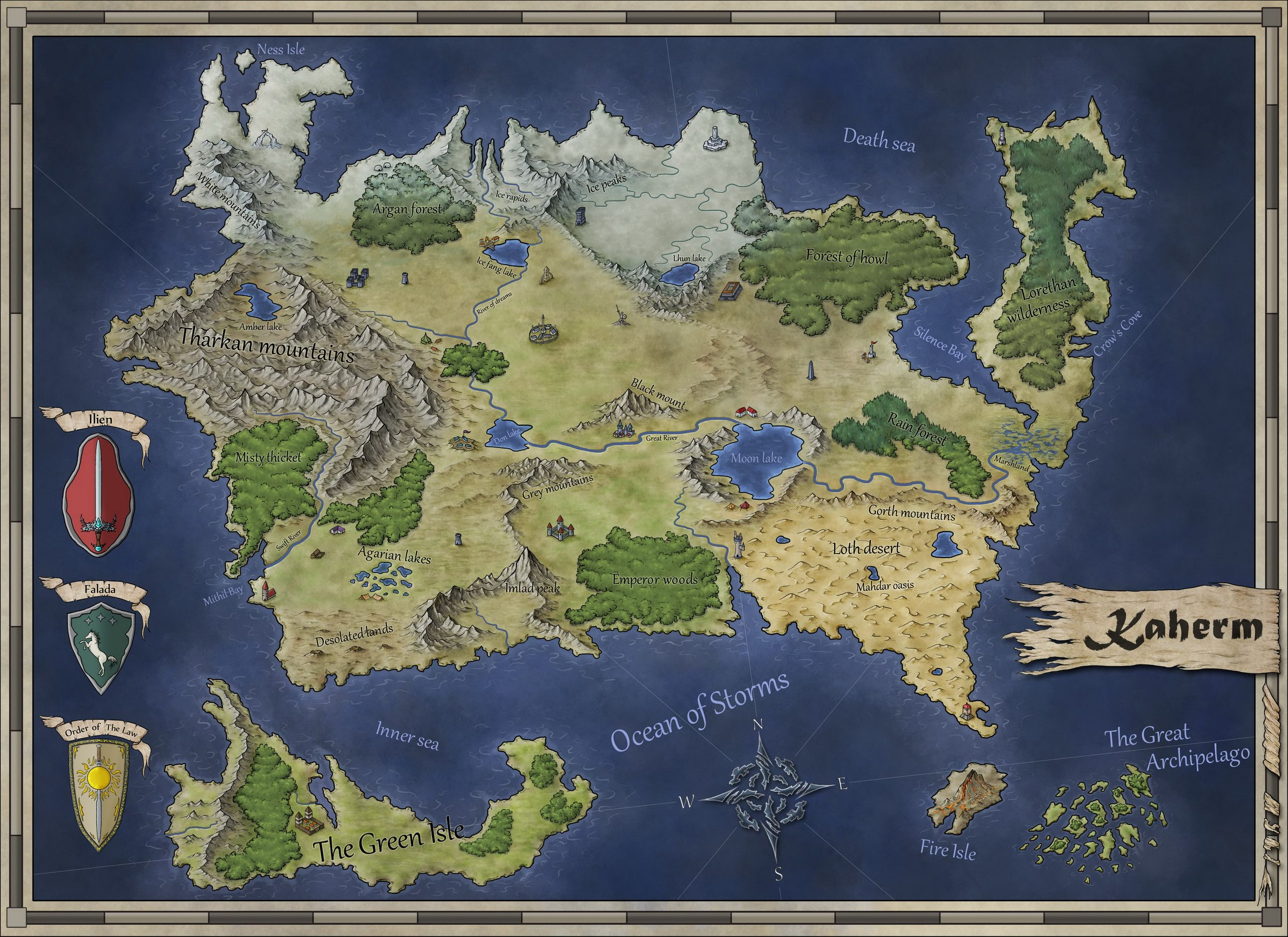 map of kaherm a