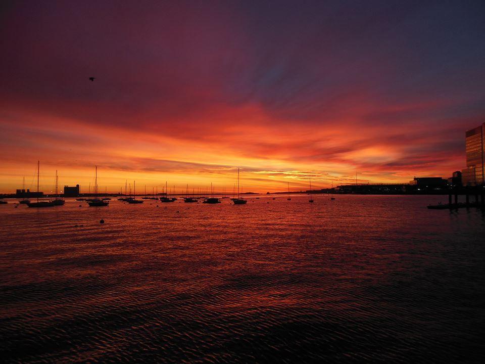 Boston harbor sunrise by robby binnall boston harbor