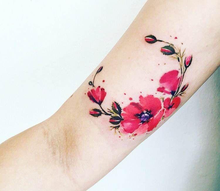 flowers tattoo by pissaro tattoo flower tattoos pinterest. Black Bedroom Furniture Sets. Home Design Ideas