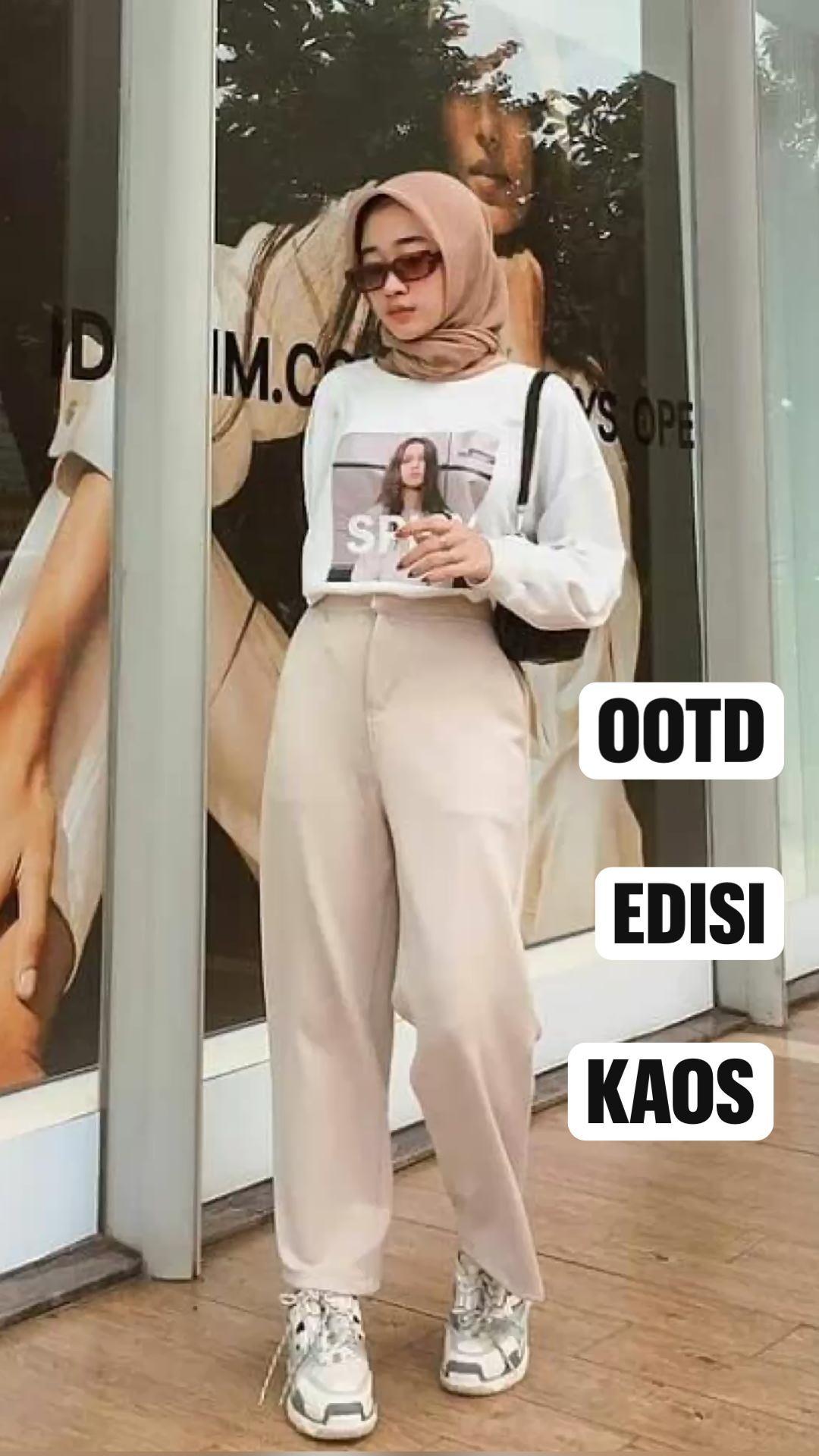 Ootd kaos hijab