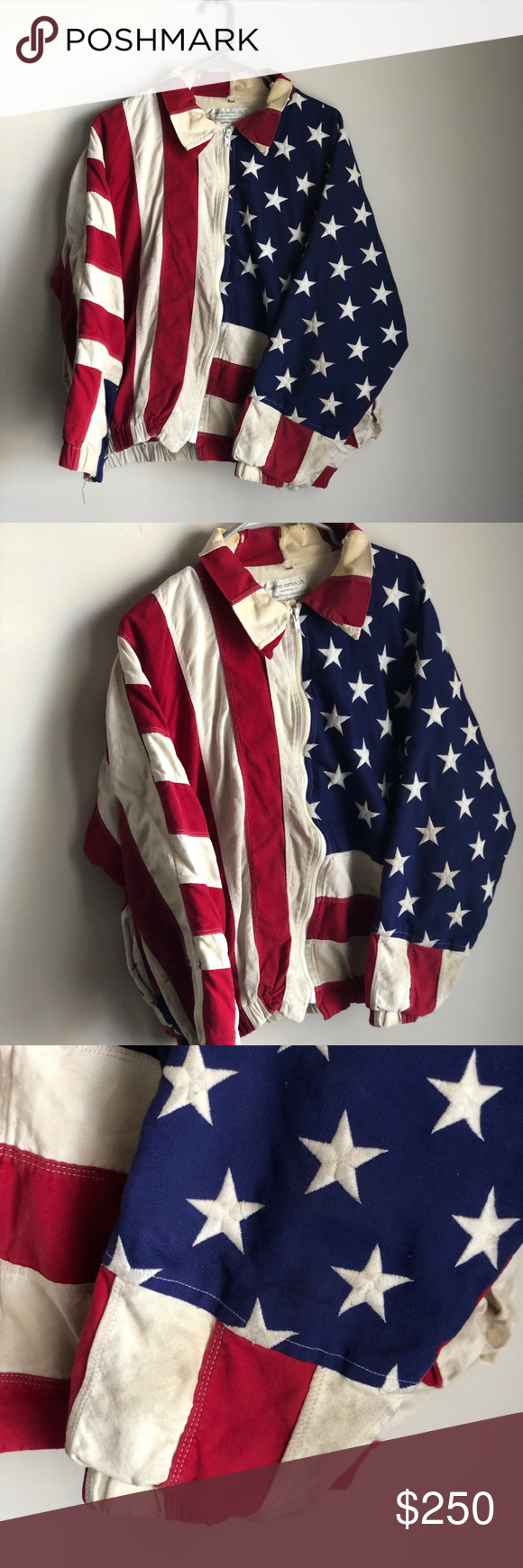 Vtg 1993 Usa American Flag Jacket In 2020 Jackets Clothes Design 90s Fashion