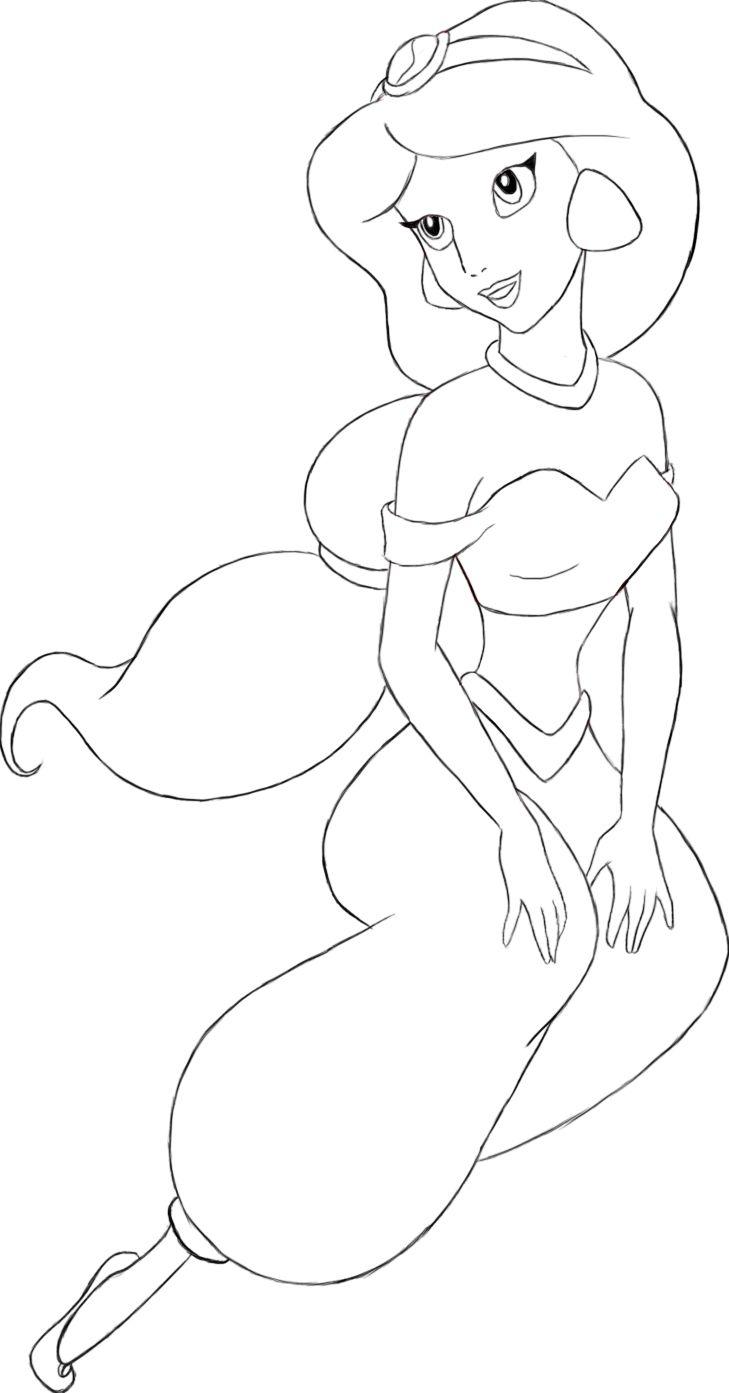 How to draw princess jasmine from aladdin printable step by step - How To Draw Jasmine