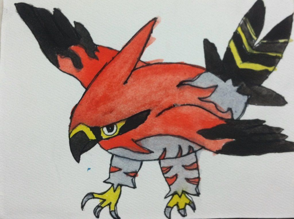 Pokemon X and Y: Talonflame Watercolor by Brawl483.deviantart.com on @deviantART