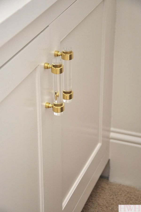 Lucite Gold Cabinet Hardware Honey We Re Home Gold Cabinet Hardware Gold Kitchen Hardware Kitchen Cabinet Hardware