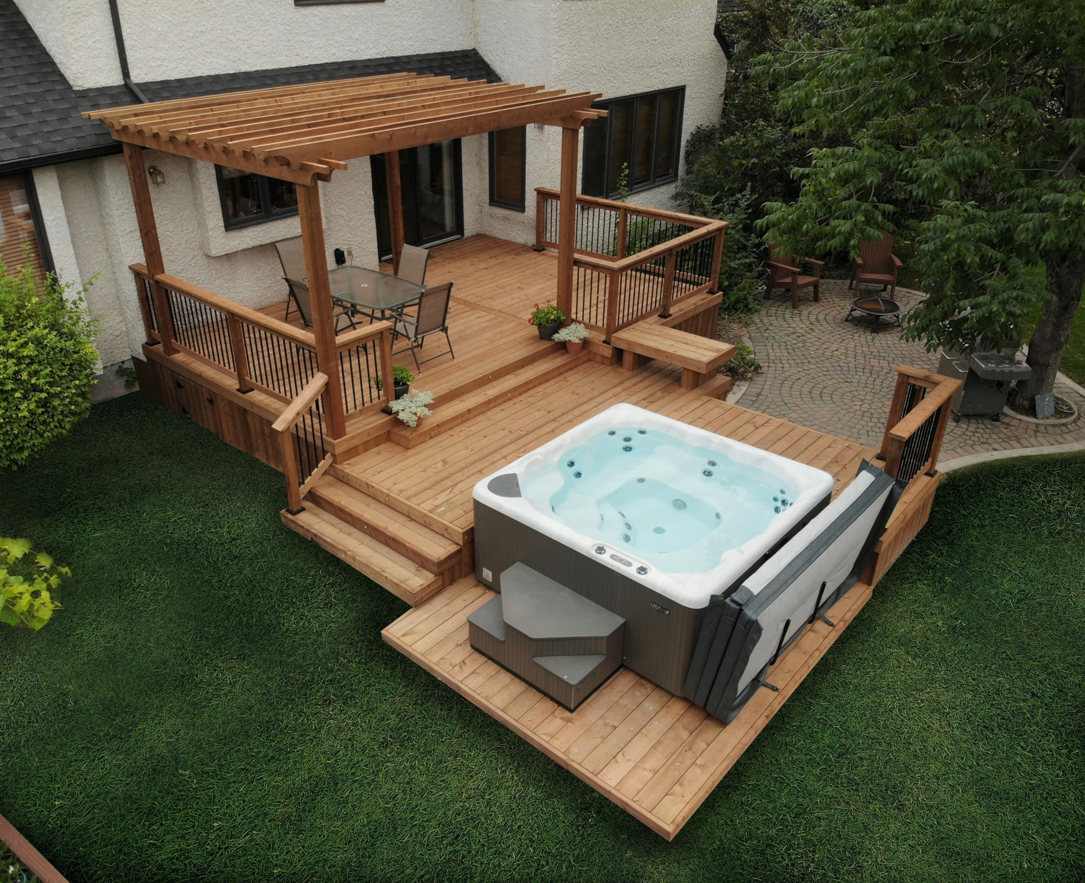 Pin by Taylor Colwell on Dedrick in 20   Hot tub backyard, Hot ...